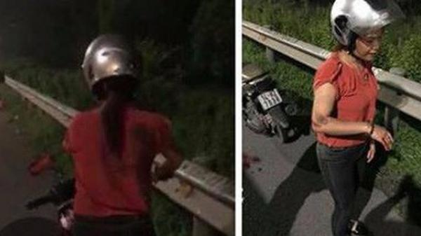 Đôi vợ chồng đi xe máy mang BKS Quảng Ninh nghi bị cướp giật túi xách, chồng ngã ra đường bất tỉnh trong đêm