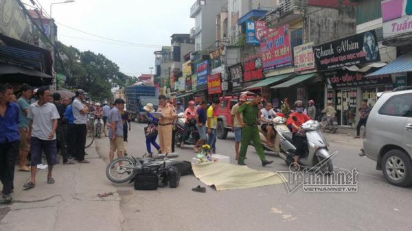 Lái xe Grabbike bị xe container Hải Phòng cuốn vào gầm chết thảm