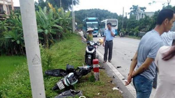 Quảng Ninh: Ô tô va chạm nghiêm trọng với xe máy, 2 người t.ử v.o.n.g