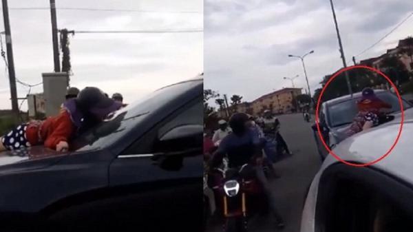 Huế: Vợ bám capô bắt quả tang chồng chở nhân tình, chồng vẫn nhấn ga phi thẳng gây PHẪN NỘ