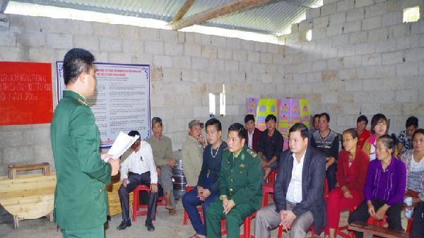Bộ đội Biên phòng Cao Bằng và cách phổ biến pháp luật cho nhân dân