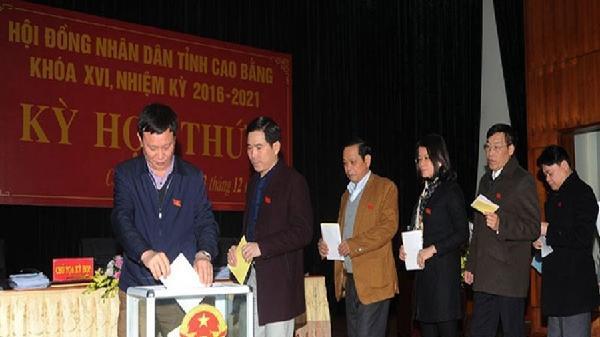 Giám đốc Sở Ngoại vụ Cao Bằng có số phiếu tín nhiệm thấp nhiều nhất