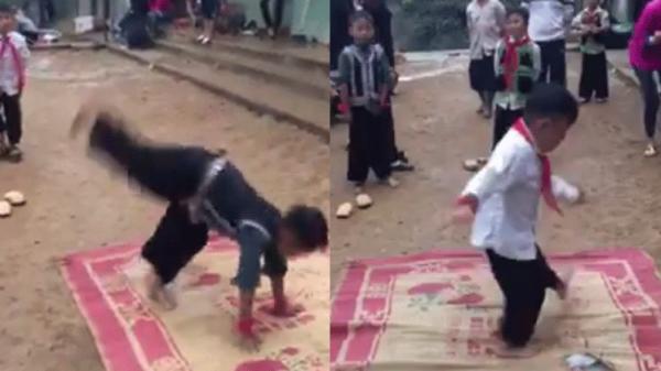 Xúc động với màn nhảy hip hop điệu nghệ của trẻ em vùng cao trên nền đất gồ ghề trước thềm khai giảng