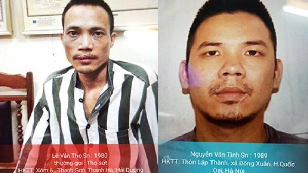 Hàng chục cảnh sát được huy động để truy bắt hai tử tù ở Thạch Thất, Hà Nội
