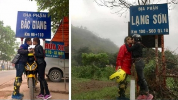 Đi đâu cũng chỉ chụp một kiểu ảnh, cặp đôi gây bão với loạt ảnh du lịch xuyên Việt