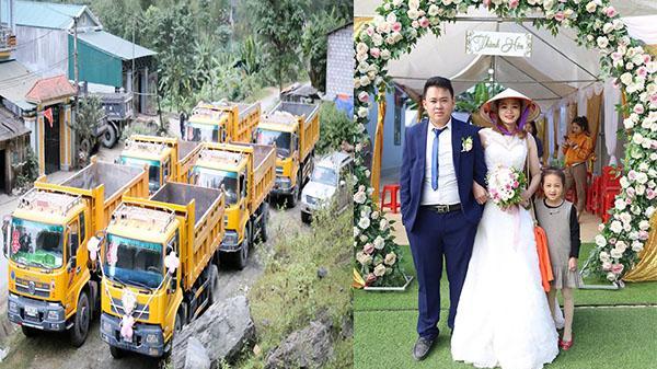 Cao Bằng: Màn rước dâu đỉnh nhất trong lịch sử với dàn 'xế khủng'siêu ngầu