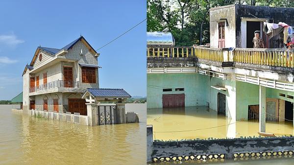 Xót xa hình ảnh 4 ngày sau mưa lũ, người dân vẫn bị bủa vây trong biển nước
