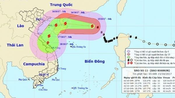 Ảnh hưởng hoàn lưu của bão số 11 đến tỉnh Cao Bằng