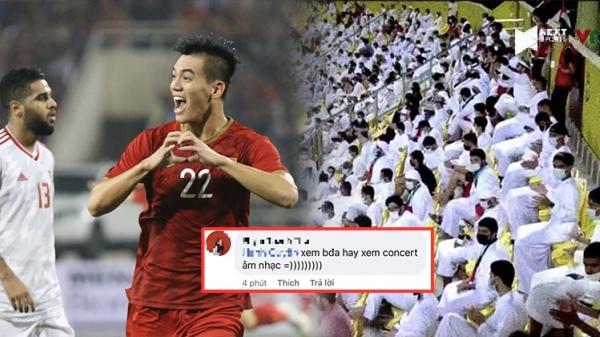 Cổ động viên UAE hát cổ vũ cực ảo diệu, netizen Việt: 'Tưởng đi concert âm nhạc'
