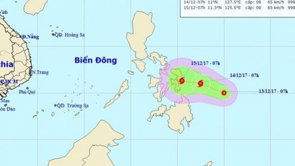 Xuất hiện áp thấp nhiệt đới có thể mạnh thành bão gần Biển Đông