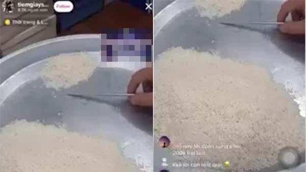 Clip: Thanh niên livestream đếm gạo, cao điểm hơn 8.000 người xem giữa mùa dịch