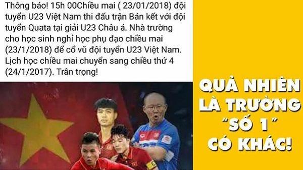"""Cơ quan công sở, trường học """"siêu tâm lý"""" cho nghỉ cổ vũ U23 Việt Nam trận bán kết"""