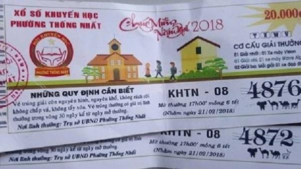 Đắk Lắk: Lùm xùm vụ việc phường Thống Nhất tự in vé số bán để gây quỹ
