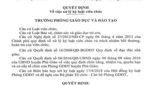 Thầy giáo quê Đắk Lắk sờ mó học sinh bị buộc thôi việc