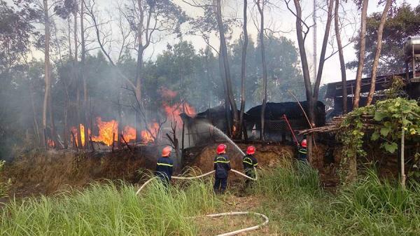 Gia Lai: Cháy xưởng gỗ tại thị xã An Khê