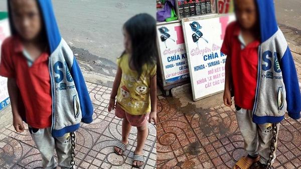 Đắk Lắk: Hình ảnh bé trai bị xích chân giữa chợ khiến nhiều người bức xúc