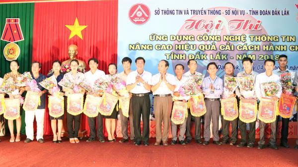 Hơn 100 thí sinh tham gia Hội thi ứng dụng công nghệ thông tin nâng cao hiệu quả cải cách hành chính tỉnh Đắk Lắk năm 2018