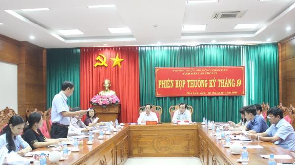 Đắk Lắk: Thường trực HĐND tỉnh triển khai nhiệm vụ tháng 10/2018