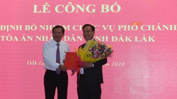 Đắk Lắk: Công bố và trao quyết định bổ nhiệm chức vụ Phó Chánh án TAND tỉnh