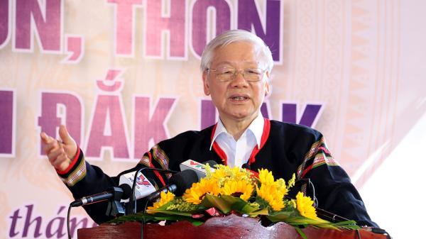 Tổng Bí thư, Chủ tịch nước Nguyễn Phú Trọng dự Ngày hội đoàn kết tại xã Dur Kmăl, huyện Krông Ana