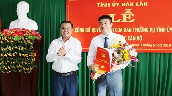 Đắk Lắk: Đồng chí Từ Thái Giang được phân công làm Bí thư Thành ủy Buôn Ma Thuột