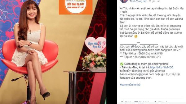 """Cô gái xinh như hot girl tới từ Buôn Ma Thuột khiến """"500 anh em"""" dậy sóng vì """"muốn quen bạn trai ở Sài Gòn để xuống Sài Gòn sống"""""""