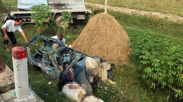 Tài xế tử vong trong buồng lái sau vụ 2 ôtô tông nhau