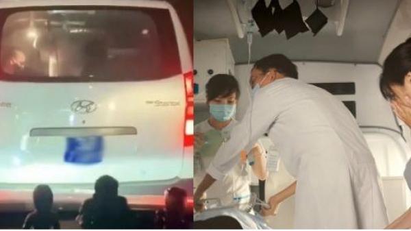 Đau lòng khoảnh khắc xe cứu thương không được nhường đường, bác sĩ hô hấp nhân tạo cho bệnh nhân trong bất lực