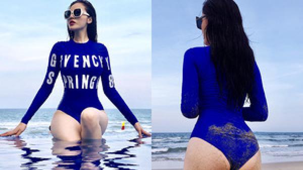 Kỳ Duyên diện áo tắm, khoe vòng ba nảy nở trên bãi biển Đà Nẵng
