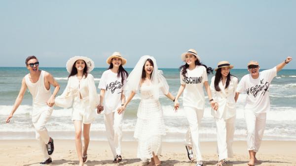 Diệp Lâm Anh tổ chức tiệc độc thân hoành tráng cùng hội bạn thân quyền lực ở biển Đà Nẵng