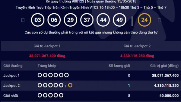 HOT: Giải Vietlott hơn 4 tỷ 'đến tay' người chơi tại Đà Nẵng