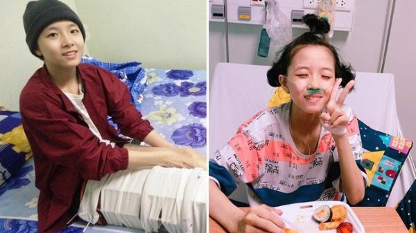 Đà Nẵng: Vợ vừa mất, cha đau đớn nhìn con gái 16 tuổi xinh xắn phải cắt bỏ chân vì ung thư xương mà không đủ tiền chữa trị