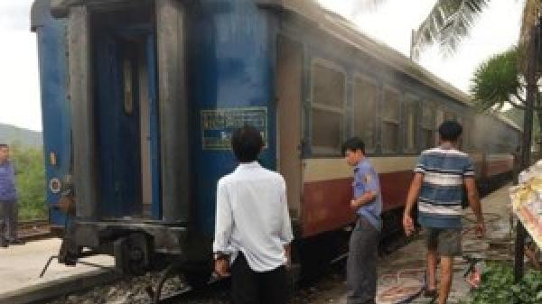 Công bố nguyên nhân tàu lửa tuyến Huế - Nha Trang đang chạy bốc cháy ở đèo Cả