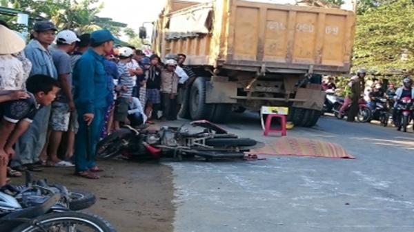 Va chạm giữa xe tải và xe máy làm 3 người thương vong tại Quảng Nam