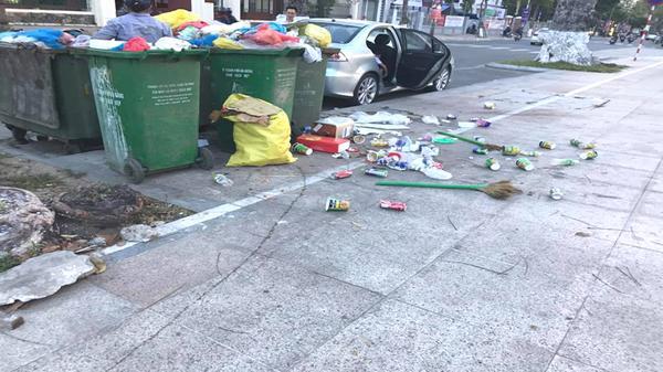 Điểm tập kết rác gây ô nhiễm và mất mỹ quan