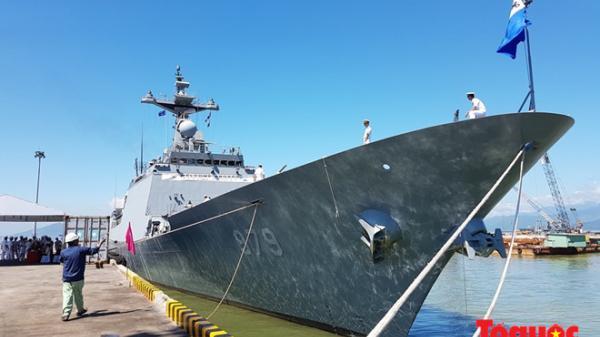 Hình ảnh: Chiến hạm Hải quân Hàn Quốc tới Đà Nẵng