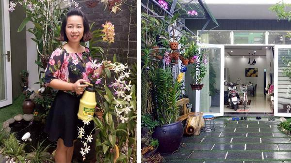 """Mẹ Đà Nẵng """"biến"""" sân gạch chỉ 30m² trước nhà thành vườn hoa lan rực rỡ"""