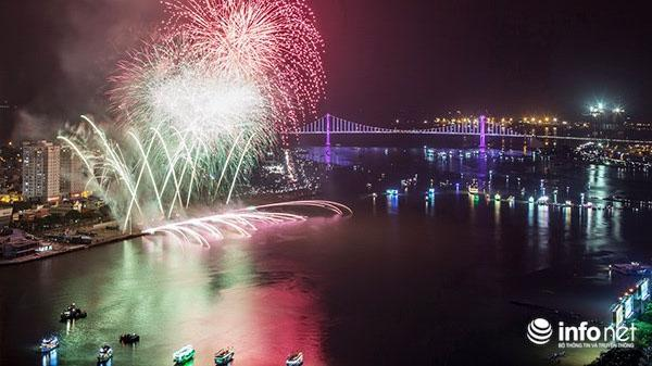 Đà Nẵng: Tàu cá chở trẻ em 2 tuổi xem pháo hoa trên sông Hàn trái quy định!
