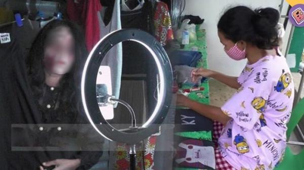 Hóa trang thành ma, livestream bán quần áo người c.h.ế.t, người phụ nữ kiếm bộn tiền mỗi đêm