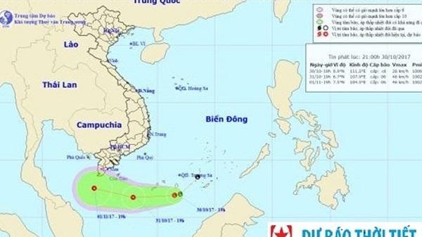 Dự báo thời tiết 31/10: Áp thấp nguy hiểm trên biển Đông, Đông Bắc Bộ trời rét