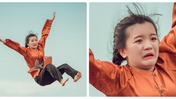 """Bình Phước: Chết cười với biểu cảm nữ chính trong bộ ảnh kỷ yếu """"quẩy quá đà"""""""