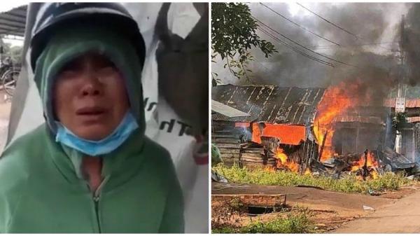 Bình Thuận: Người đàn bà tật nguyền bên căn nhà cháy rụi