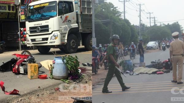 Đồng Nai: Về thăm người thân, đôi nam nữ bị xe tải chở hoá chất tông thương vong
