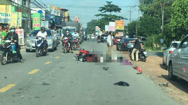 Đồng Nai: Thương tâm 2 ông cháu bị xe tải cán tử vong