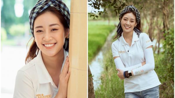 Hoa hậu Khánh Vân khoe sắc trong bộ ảnh 'cây nhà lá vườn' ở Long An