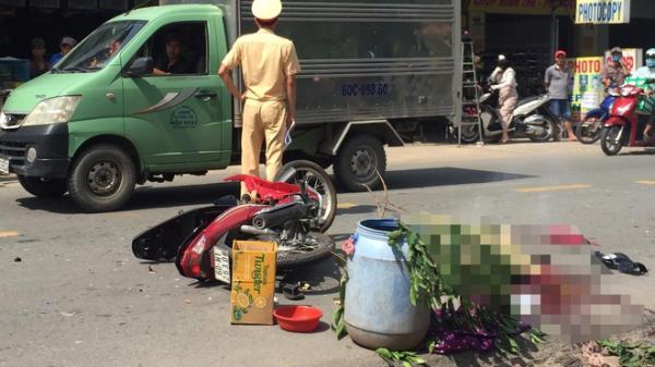 Chồng tử vong, vợ bị thương sau va chạm xe tải ở Đồng Nai