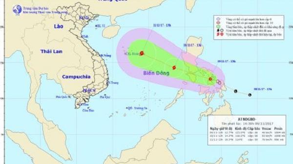 Bão Haikui tiến vào Biển đông, gió giật cấp 10