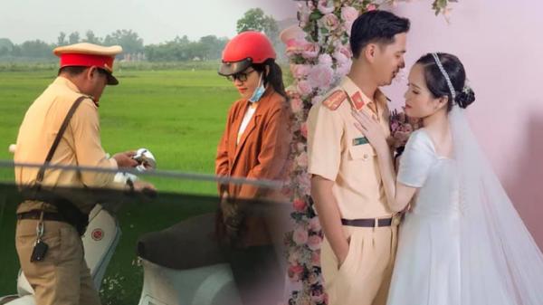 Cô gái Quảng Trị cưới anh cảnh sát giao thông sau một lần bị bắt lỗi vi phạm