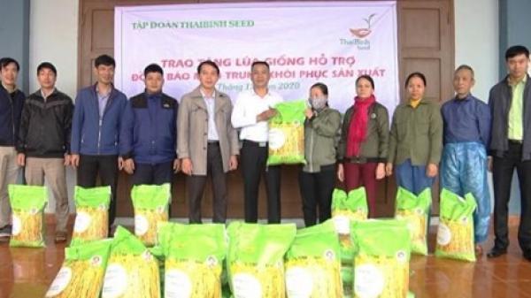 Tập đoàn ThaiBinh Seed hỗ trợ huyện Vĩnh Linh 5 tấn lúa giống