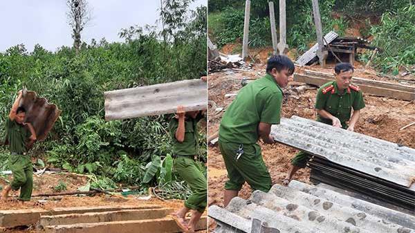 Công an tỉnh Quảng Trị sát cánh cùng nhân dân trong dịch bệnh và mưa lũ